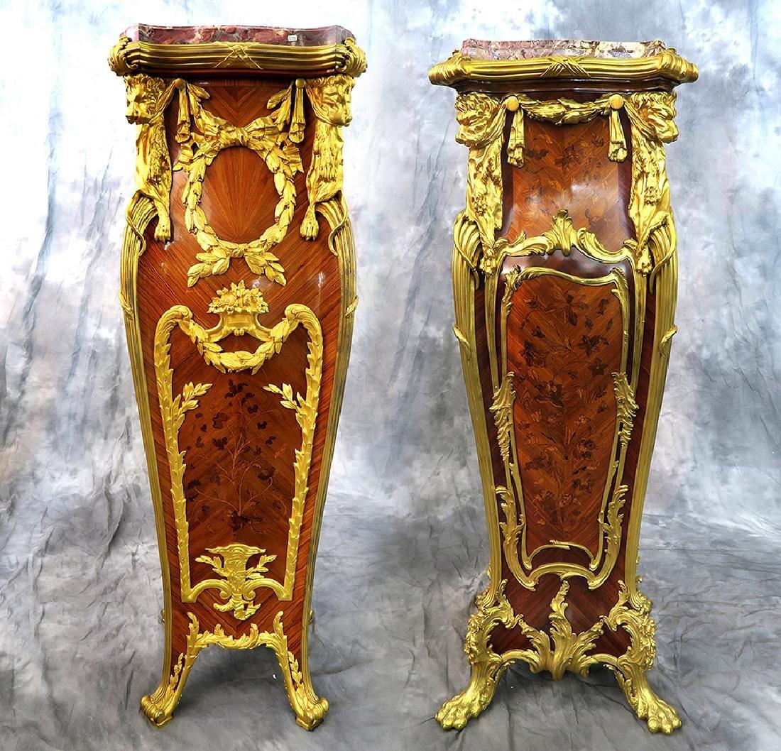 19th C Louis XV Style kingwood/Rosewood Satine Pedestal
