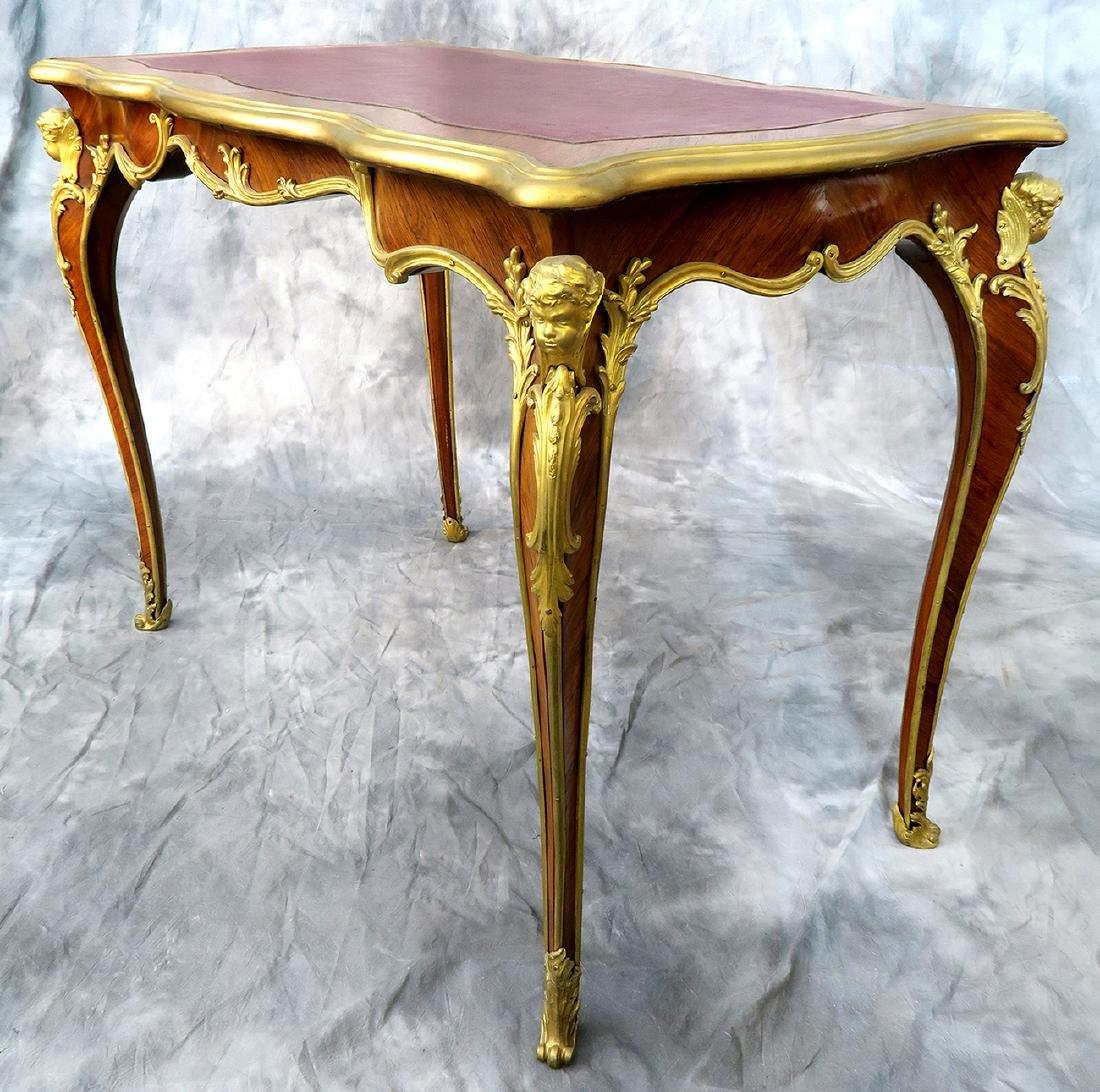 "19th C. ""F. Linke"" Signed Luis XV style Kingwood Table"