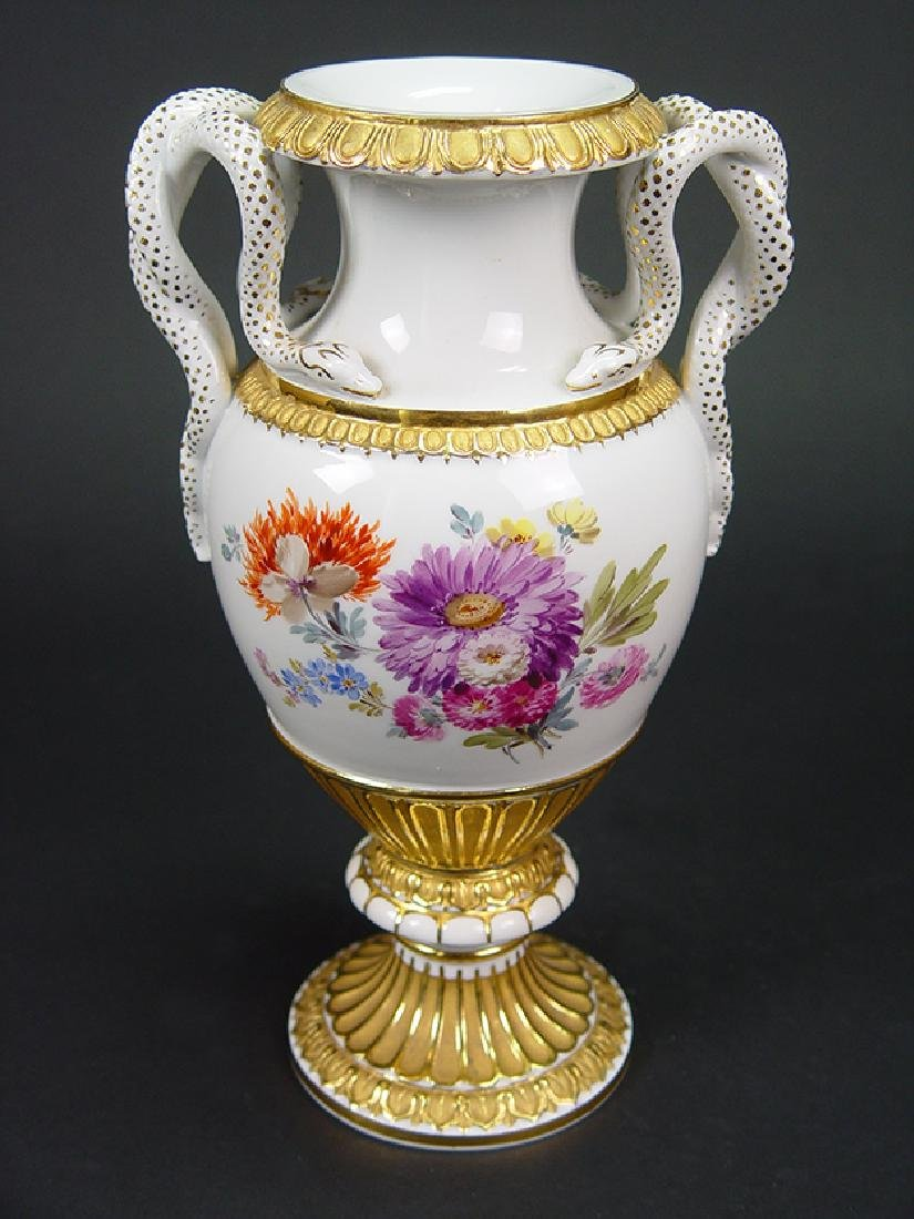 "19th C. ""Meissen"" Hand Painted Porcelain Vase"