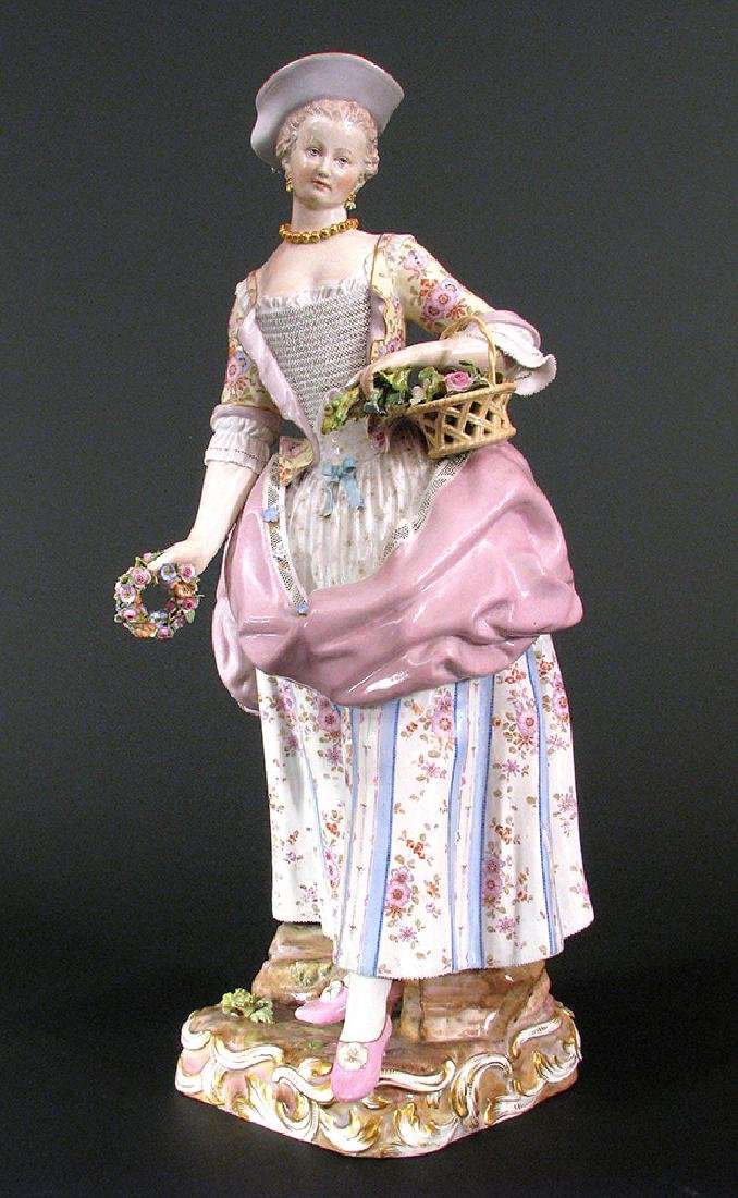 "19th C. Large ""Meissen"" Figurine"