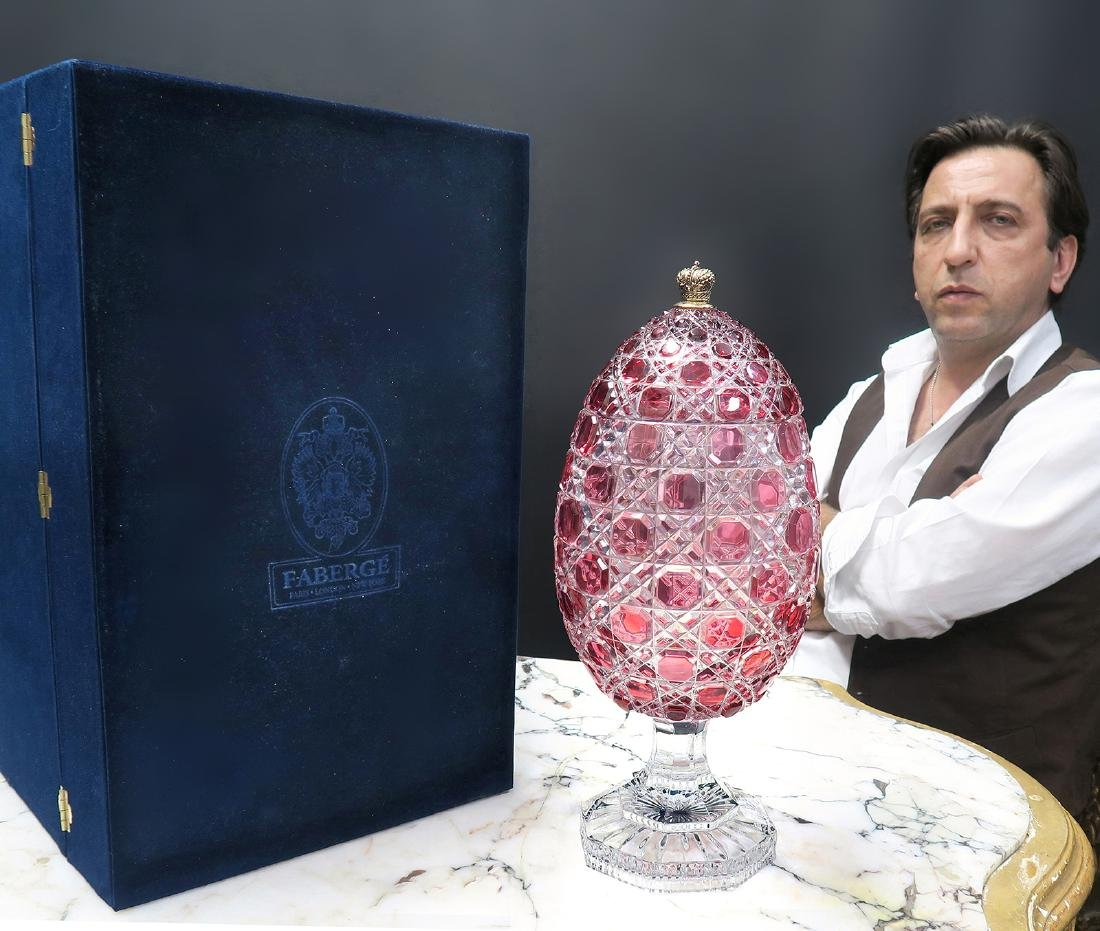 Large Cut Crystal Faberge Imperial Egg