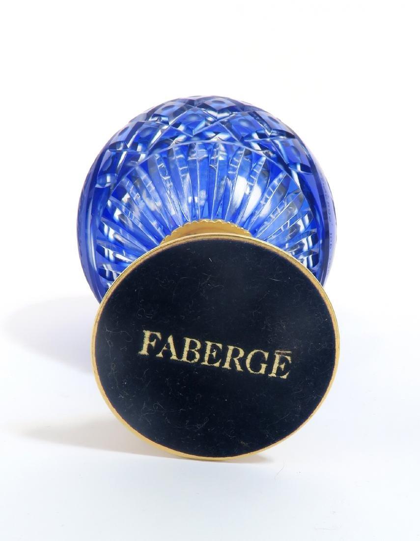 FABERGE ANASTASIA COBALT CRYSTAL EGG. 106/200 - 6