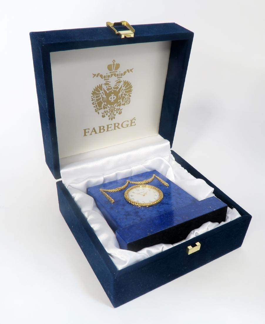 Tatiana Faberge Lapis Desk Clock