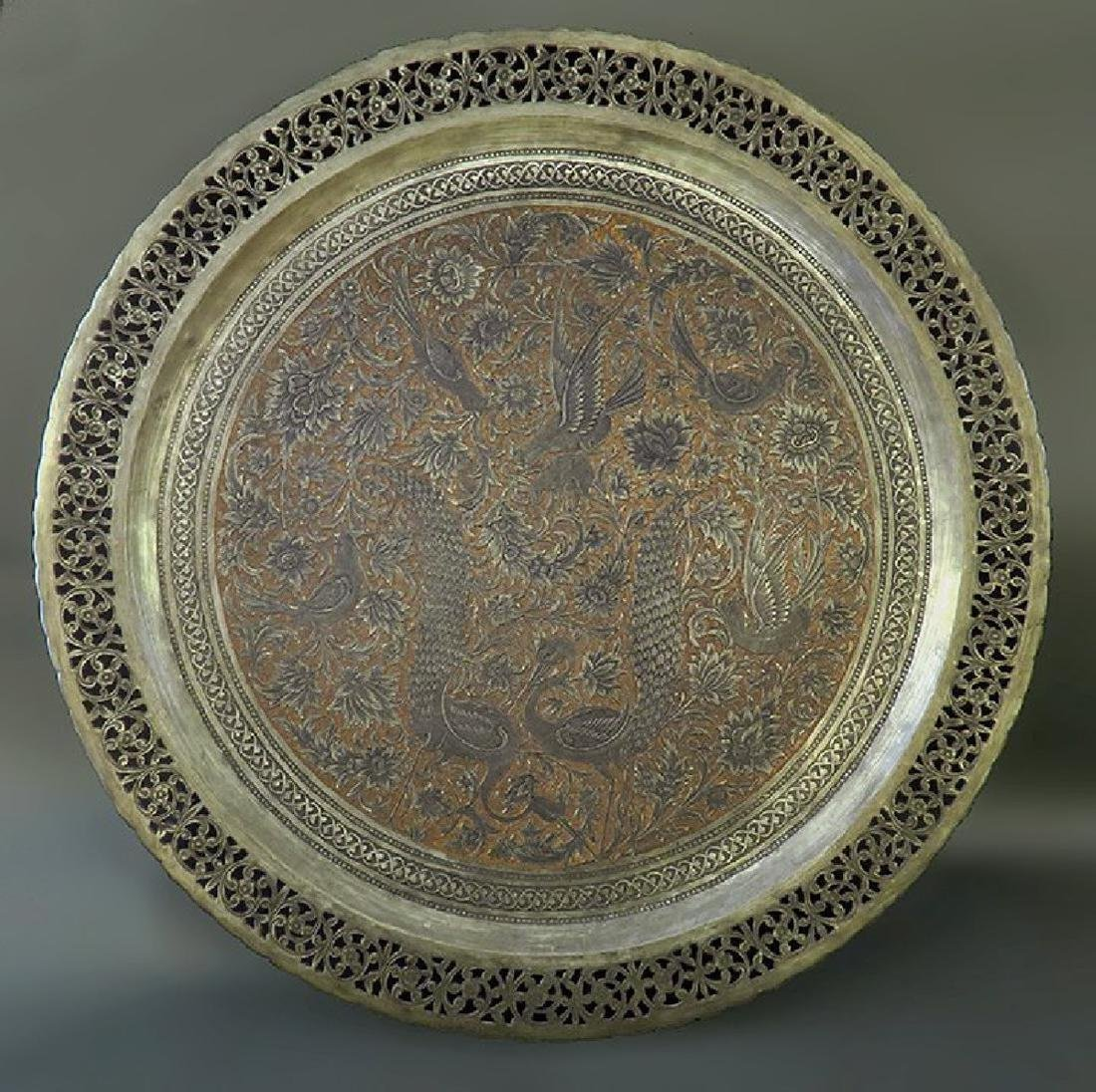 Magnificent Handmade Hand hammered Persian Tray
