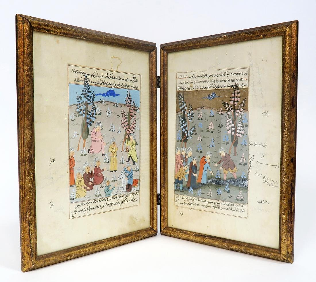 Persian Handmade Folk Miniature/Manuscript Painting