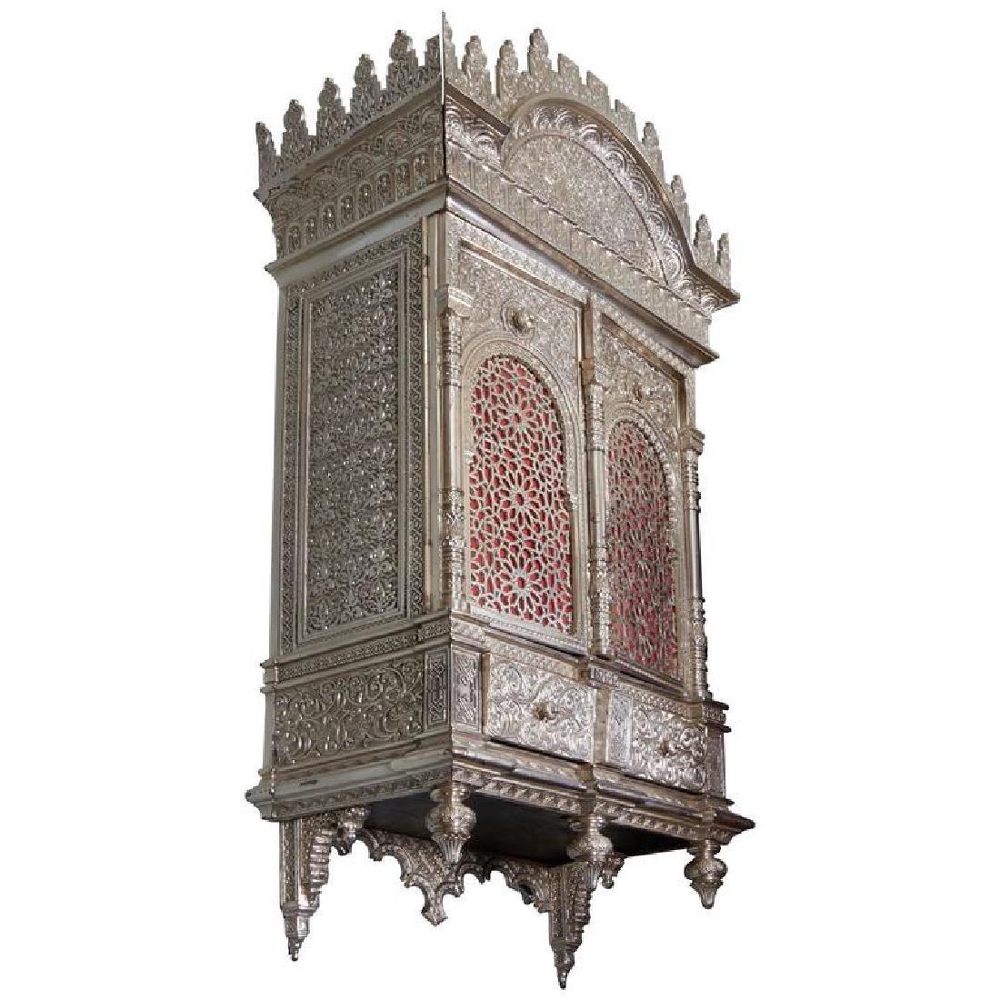 Islamic Nasrid Alhambra Bronze Wall Cabinet/Torah Ark