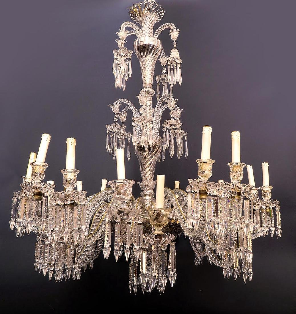 19th C. French Authentic Baccarat 24 Light Chandelier