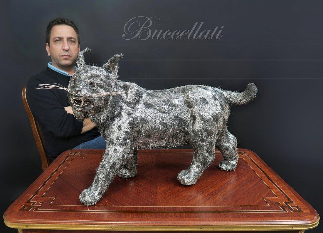 Large Buccellati Italian Sterling Silver (925) Bobcat