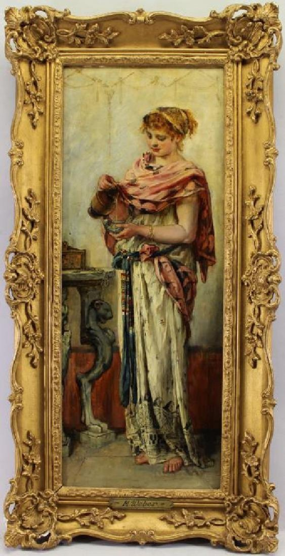 """A Maiden Pouring Wine"" Marie Philips-Weber's Painting"