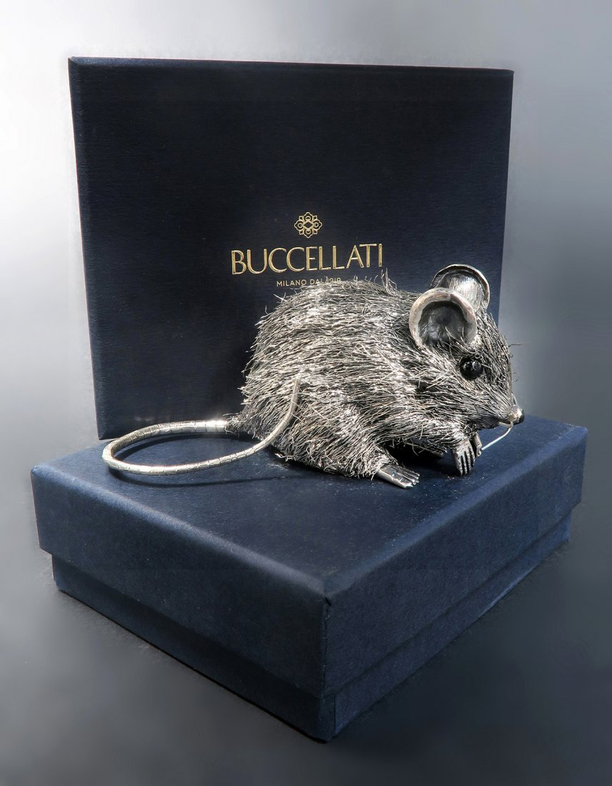 Rare Italian Mario Buccellat Sterling Silver Baby Mouse