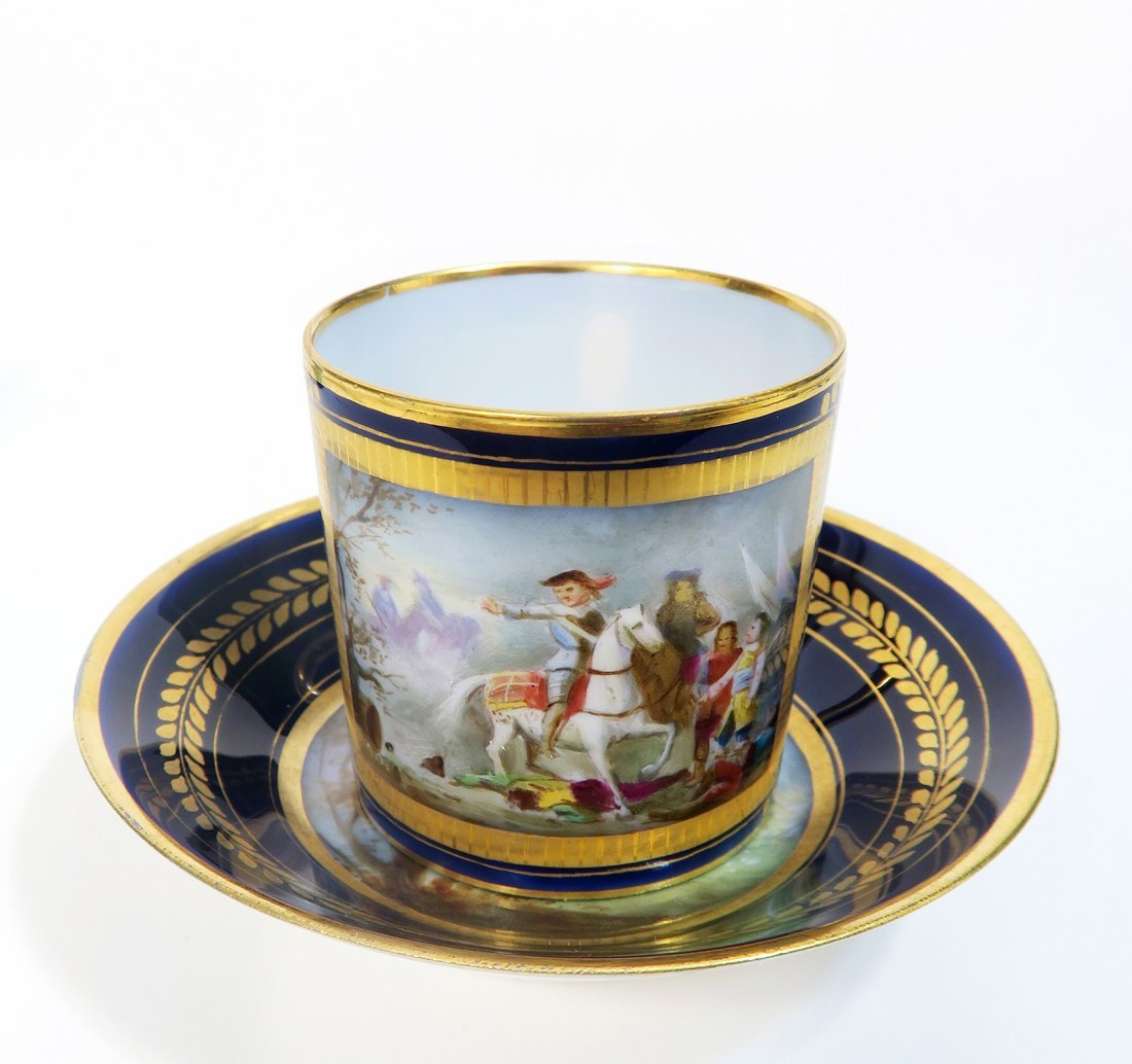 19th C. Sevres Porcelain Cup And Saucer
