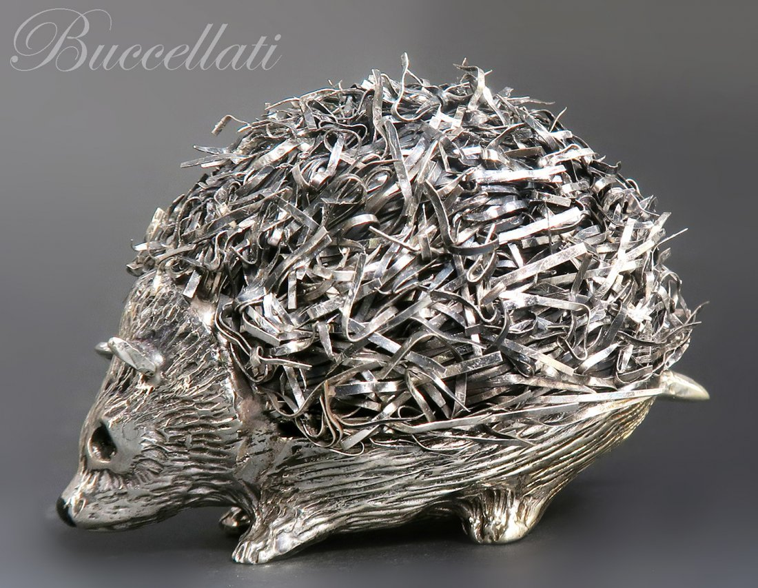 """Mario Buccellati"", Italian Sterling Silver Hedgehog"