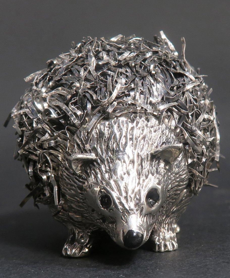 """Mario Buccellati"", Italian Sterling Silver Hedgehog - 3"