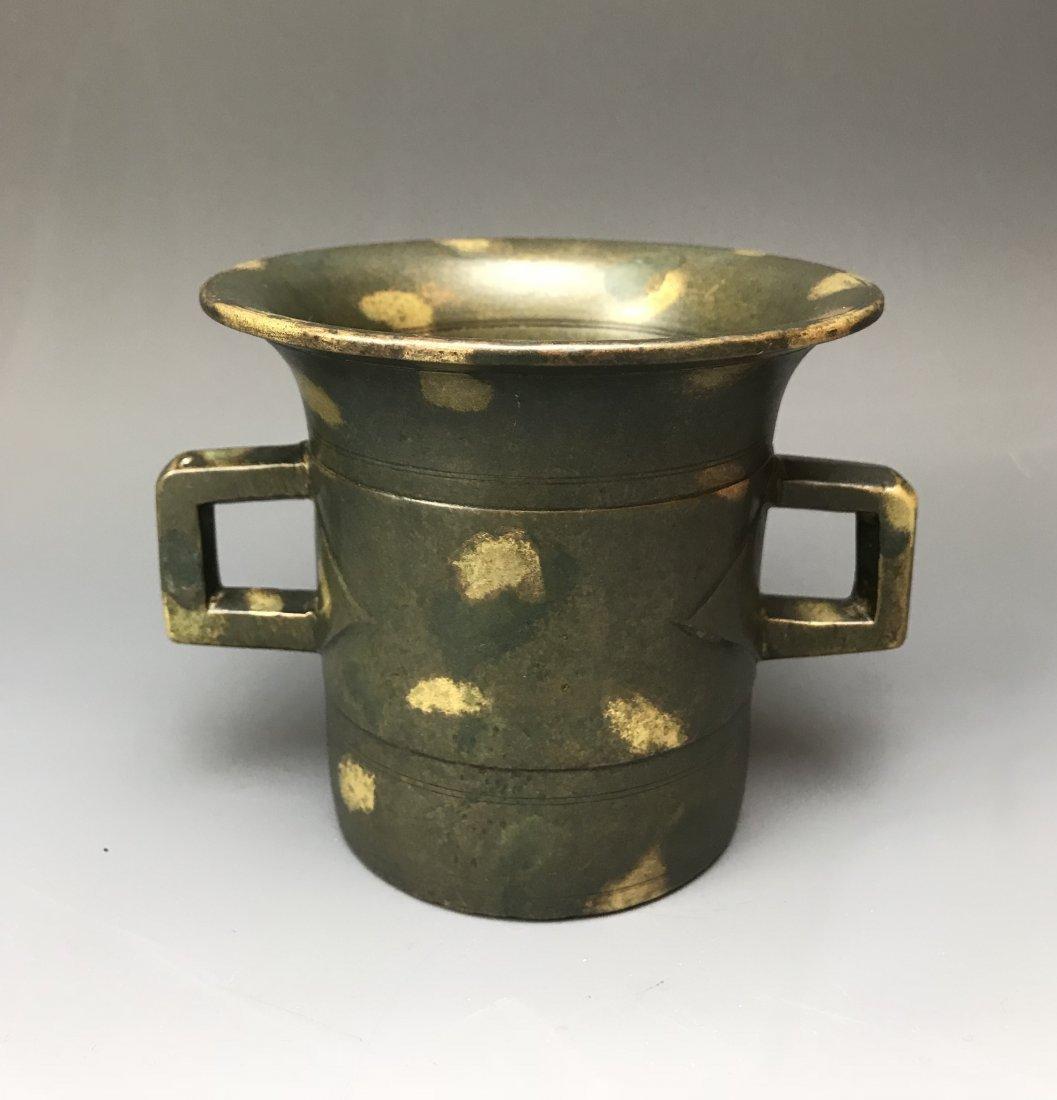 Magnificent Chinese Gold Splashed Bronze Incense Burner