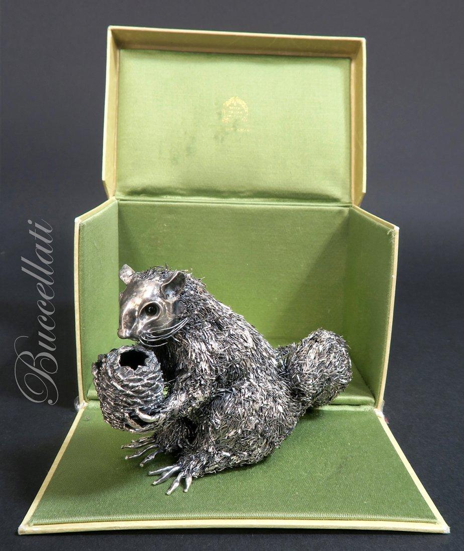 Italian Sterling Silver Squirrel By Buccellati