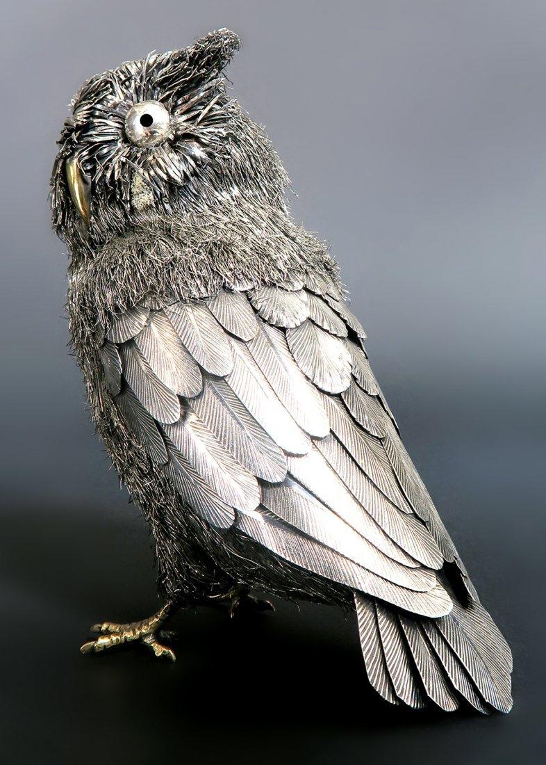 Italian Sterling Silver Buccellati Owl - 3