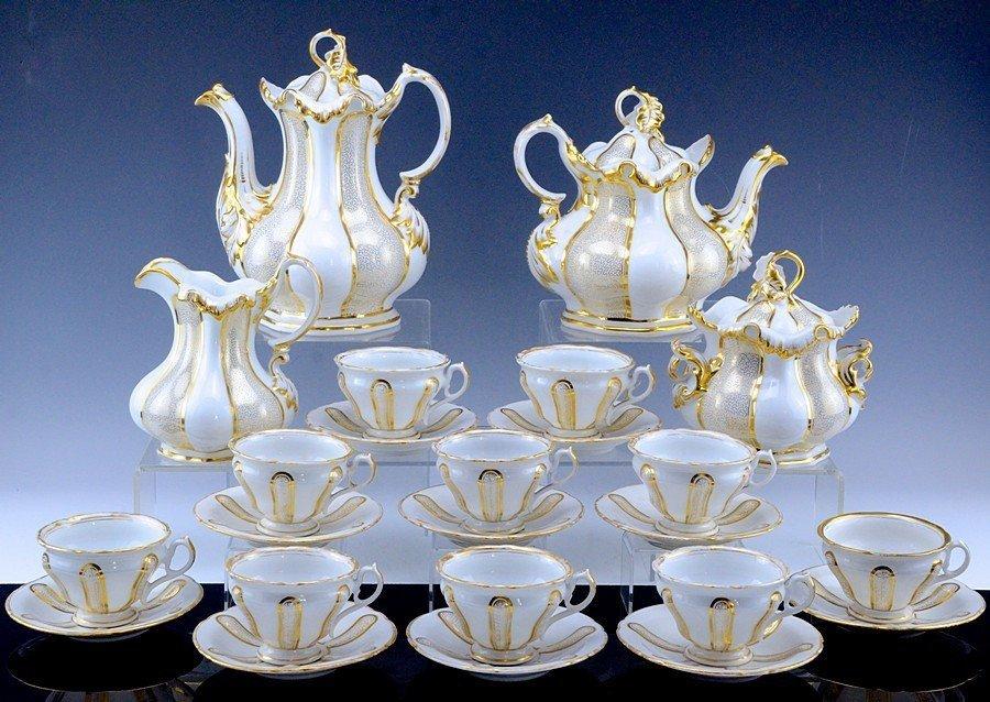 19th C. German C.T. Altwasser Tea & Coffee Set, 24 Pcs!