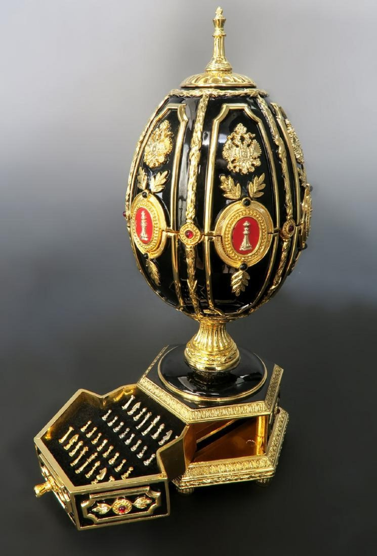 Faberge Imperial Jeweled Egg Chess set - 5