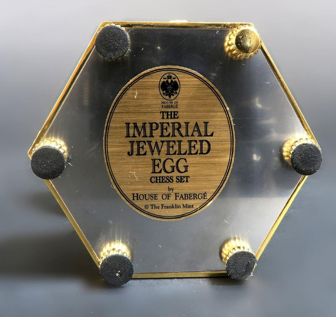 Faberge Imperial Jeweled Egg Chess set - 6