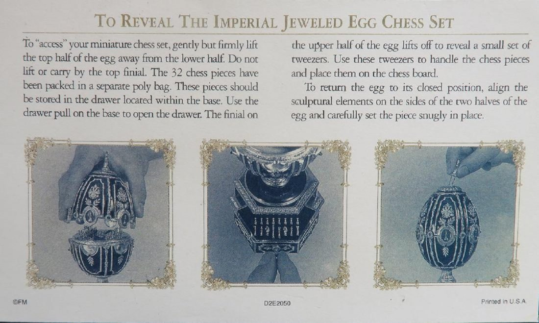 Faberge Imperial Jeweled Egg Chess set - 7