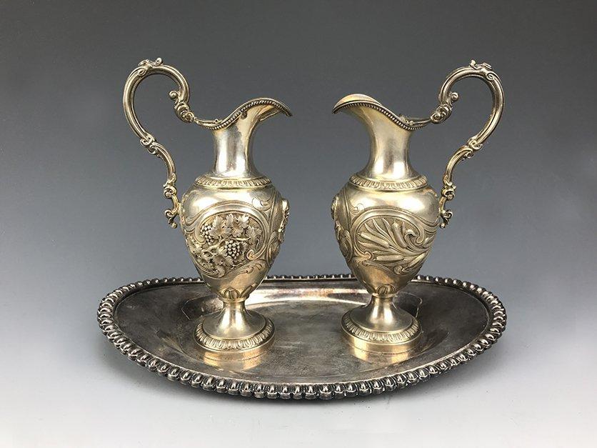 Magnificent French Silver Cruet Set