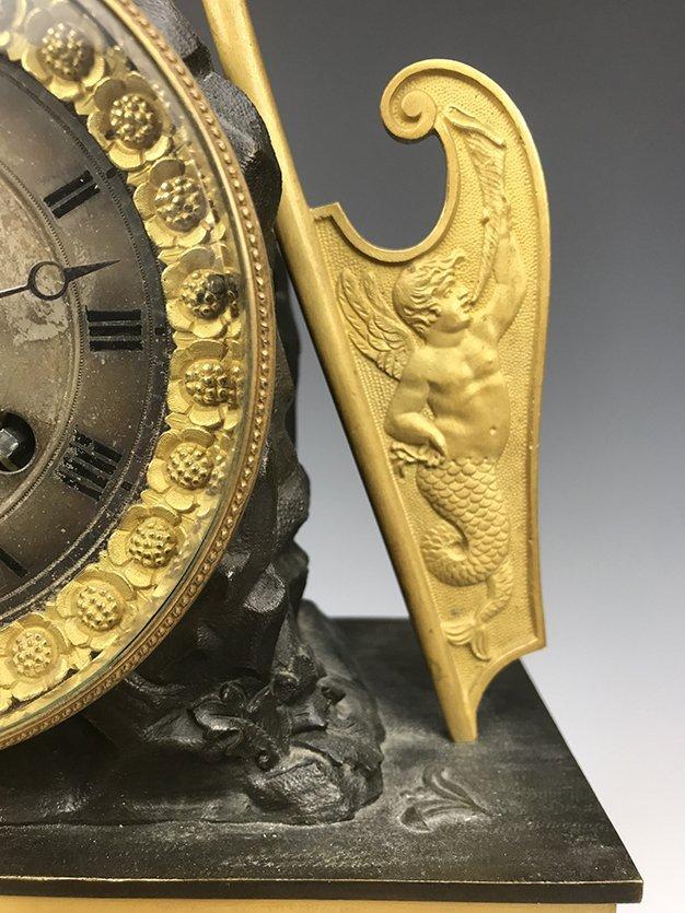 19th C. French Empire Gilt Bronze Figural Clock - 3