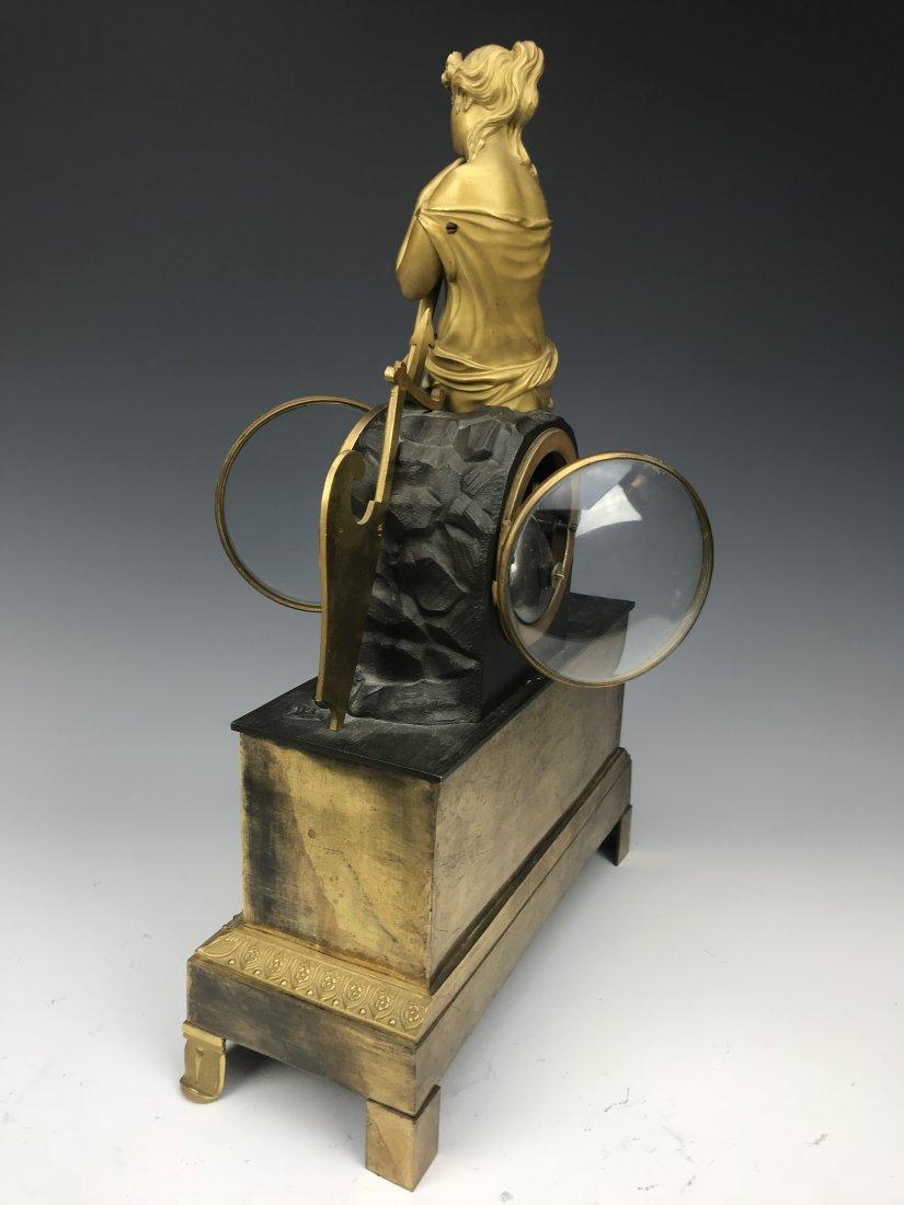19th C. French Empire Gilt Bronze Figural Clock - 5