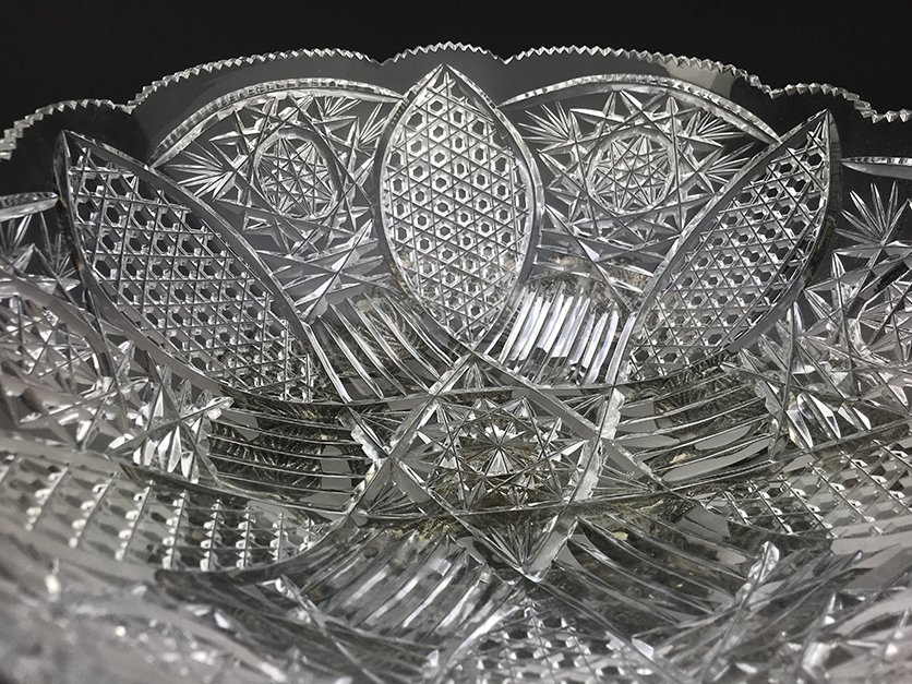 Heavy Silver-Plated Bronze and Cut Crystal Centerpiece - 4