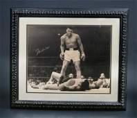 """Muhammad Ali Taunting Sonny Liston"" With Signature"