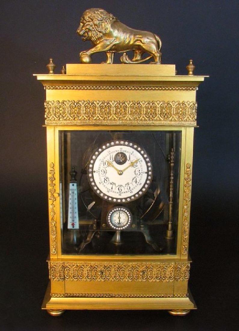 Large French Gilt Bronze Mechanical Falling Ball Clock - 2