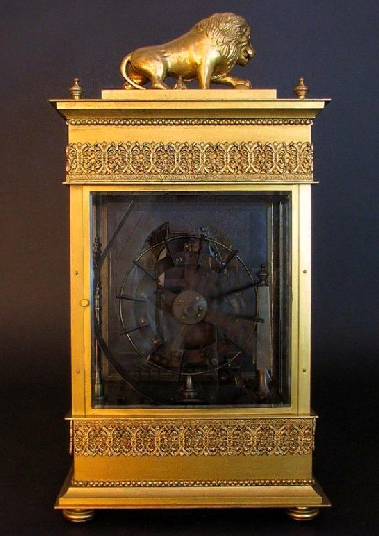Large French Gilt Bronze Mechanical Falling Ball Clock - 8