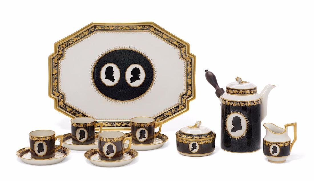 A LIMITED EDITION ROYAL COPENHAGEN COLONIAL COFFEE SET