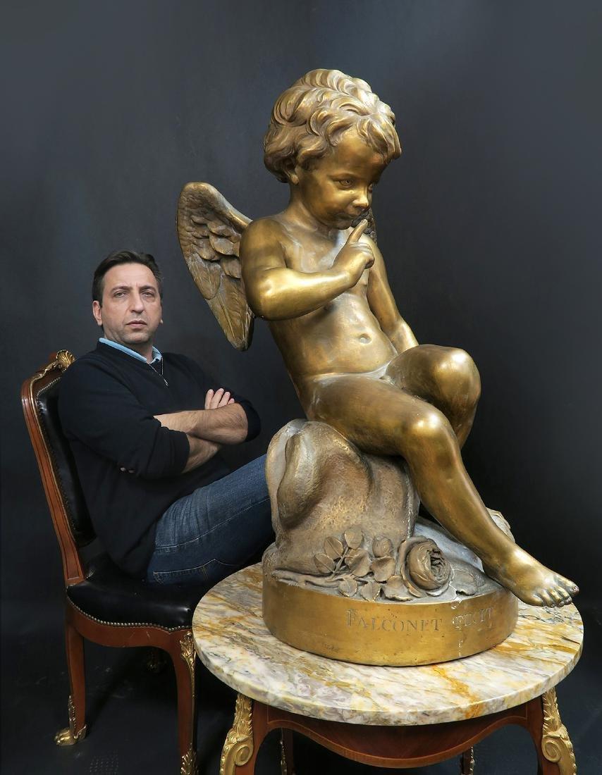 Monumental FALCONET Paris Gesso Sculpture, 19th C.