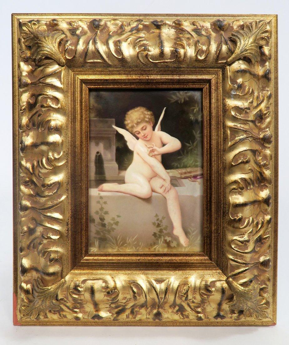 19th C. Framed Berlin KPM Plaque