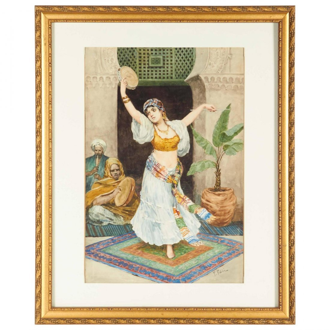 """The Tambourine Dancer"" Orientalist By Fabio Fabbi"