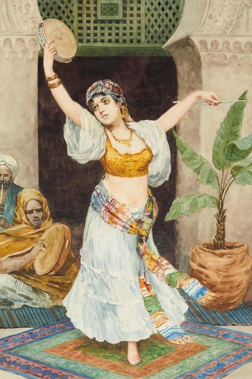 """The Tambourine Dancer"" Orientalist By Fabio Fabbi - 2"