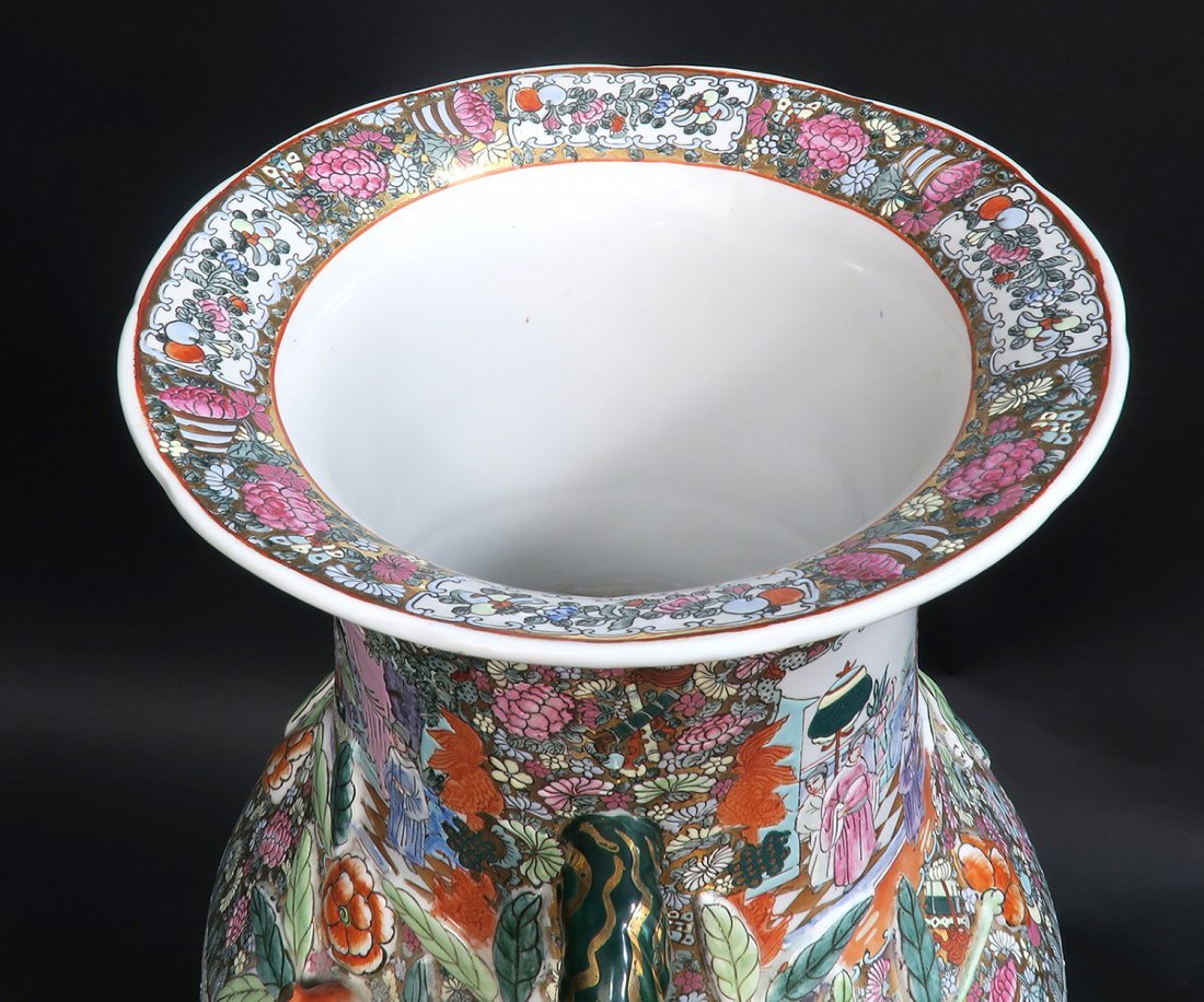 Monumental Qing Dynasty Style Chinese Vase - 5