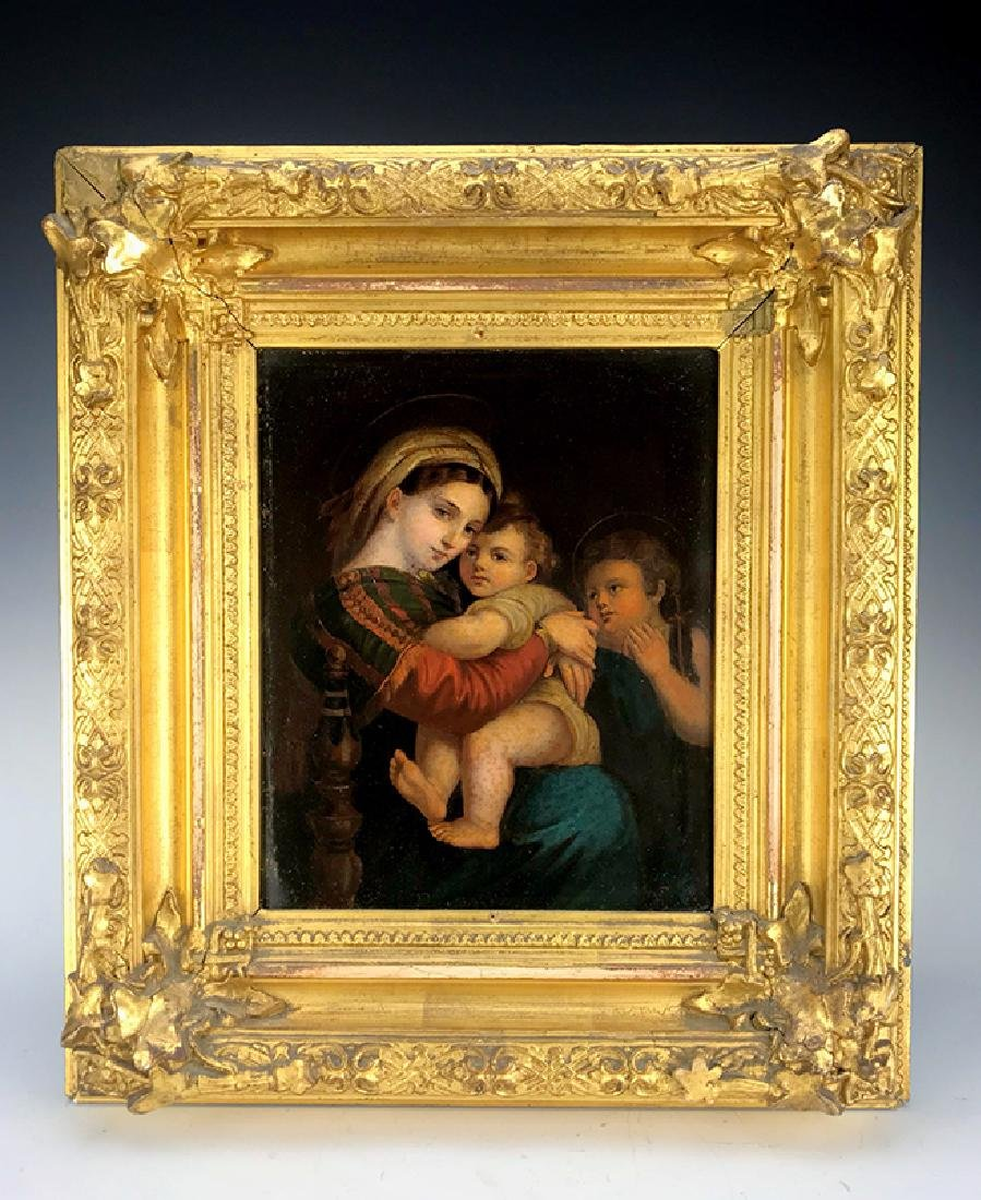 19th C. Continental painting on board