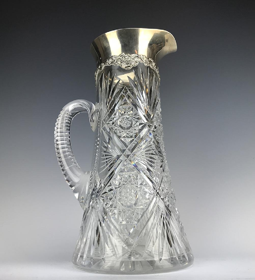 Sterling Silver & Cut Crystal Pitcher