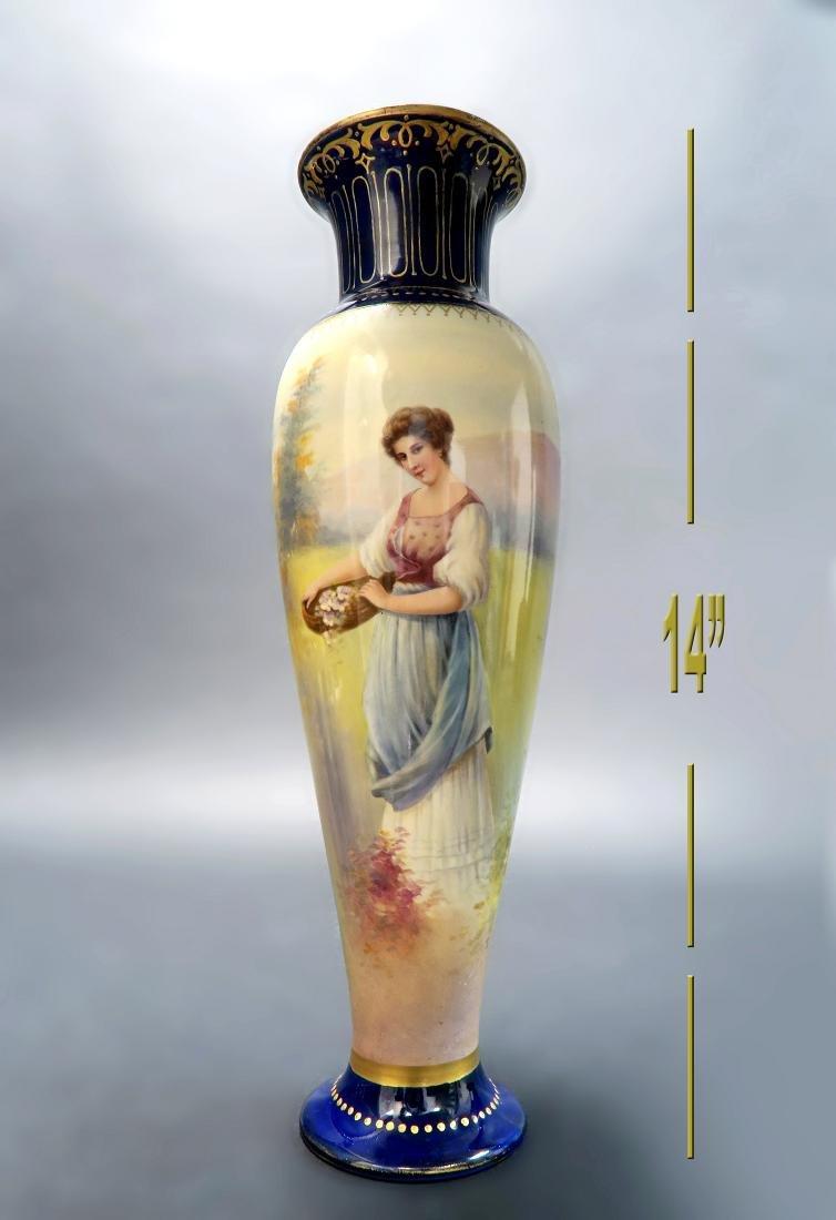 19th C. Royal Bonn Hand Painted Vase