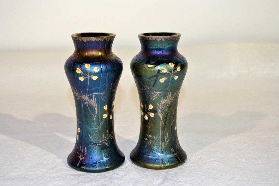 A Pair of Loetz Art Glass Vases