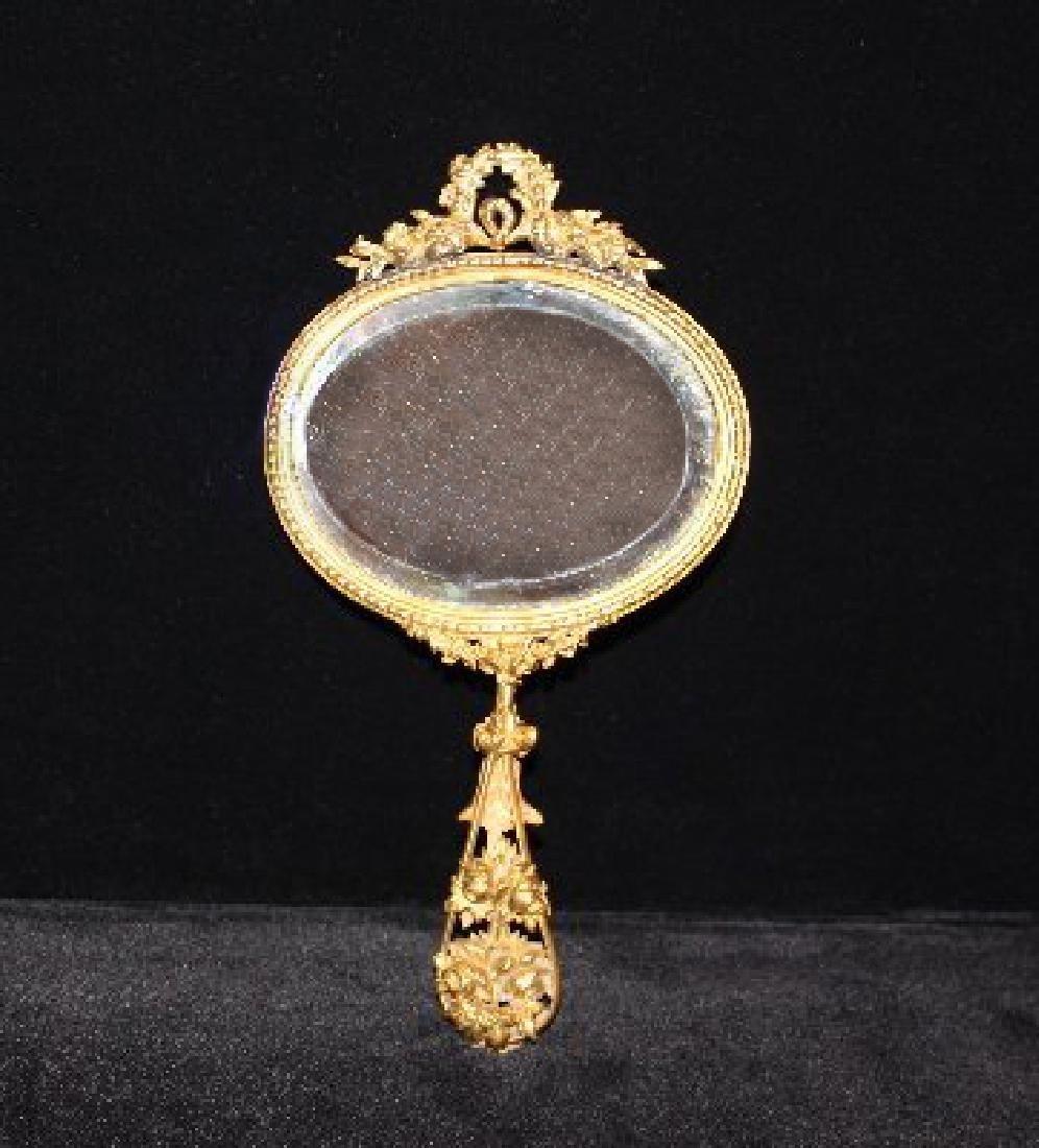 Antique French Gilt Vanity Mirror