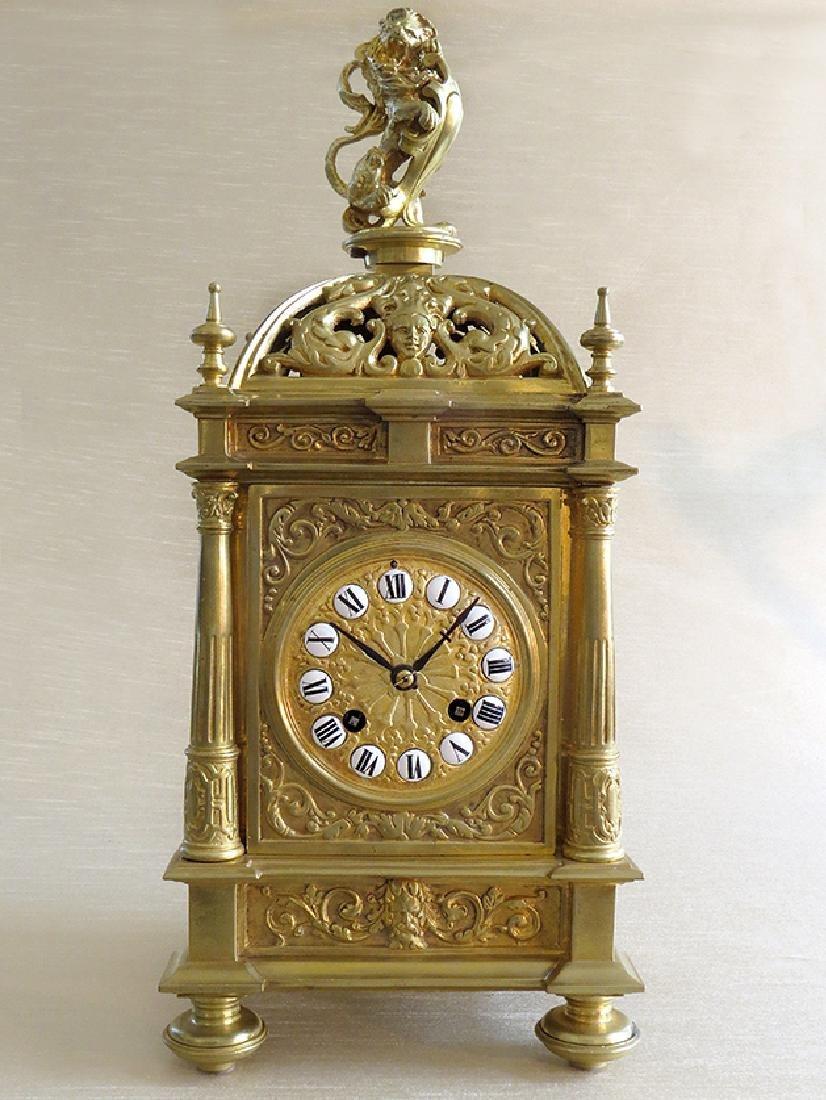 Antique Elegant Gilt Bronze French clock