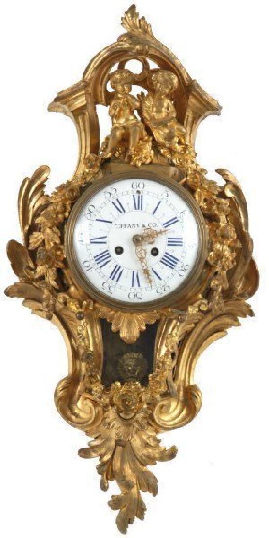 Tiffany & Co. Gilt Bronze Cartel Clock
