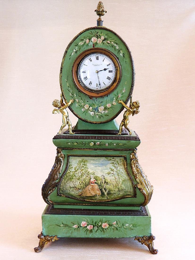 Hand Painted Antique Clock