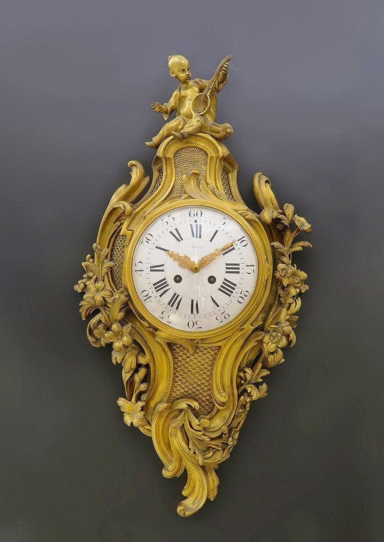 V. Fine 19th C. Tiffany & Co. Chinoiserie Cartel Clock