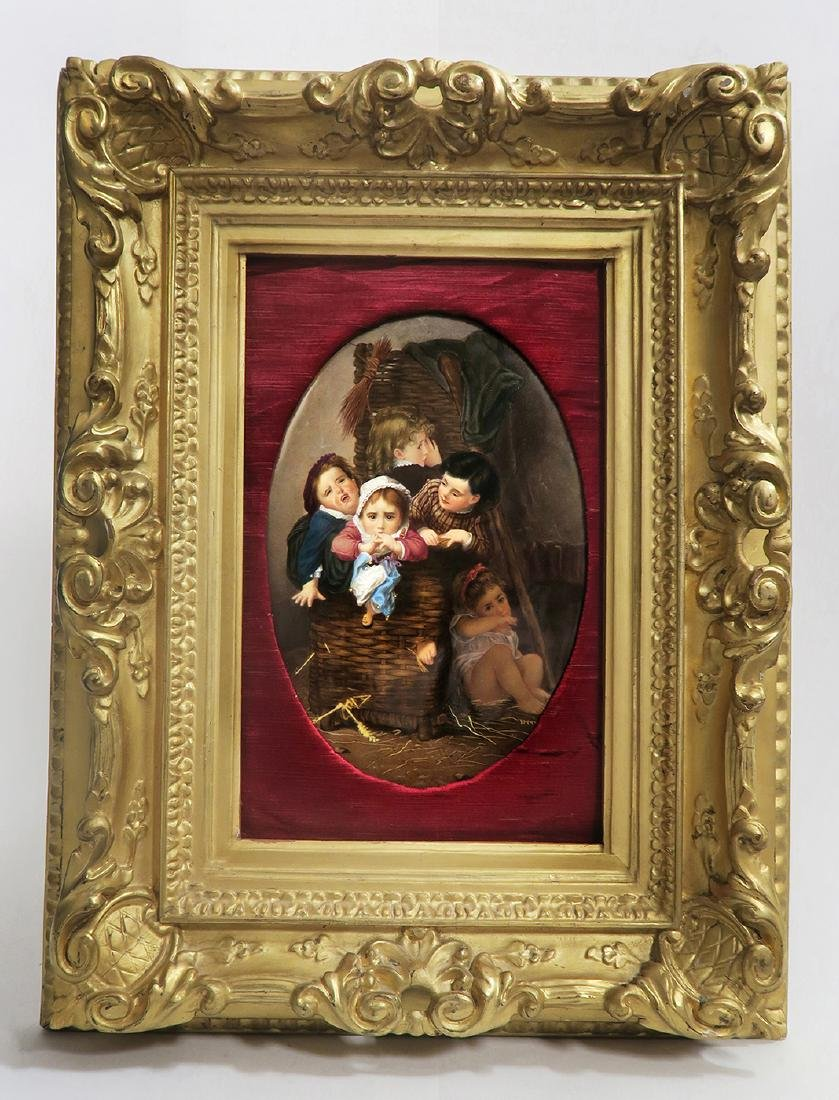 "19th C. Framed Berlin ""KPM"" Plaque"