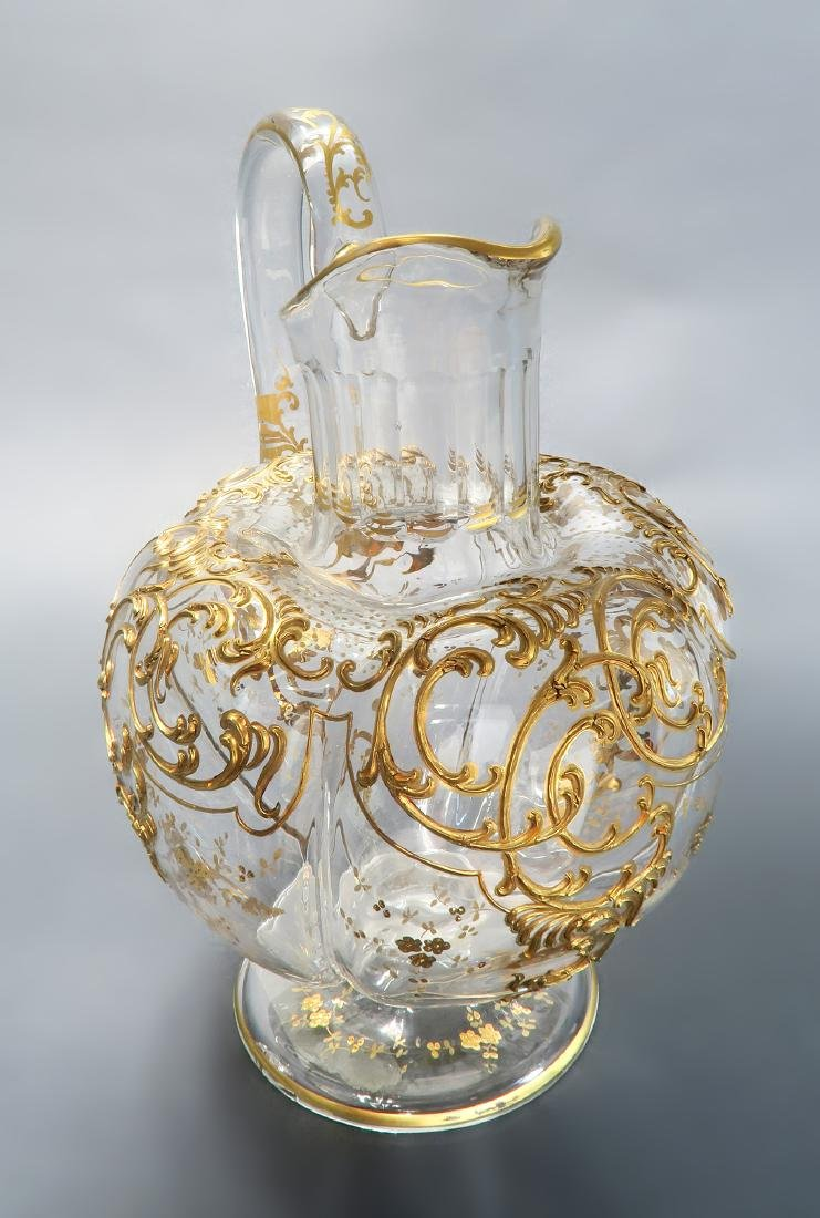 Large 19th C. Baccarat/Moser Pitcher