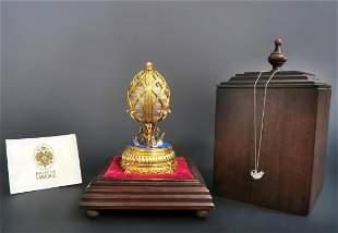 Faberge Swan Lake Imperial Jeweled Musical Egg