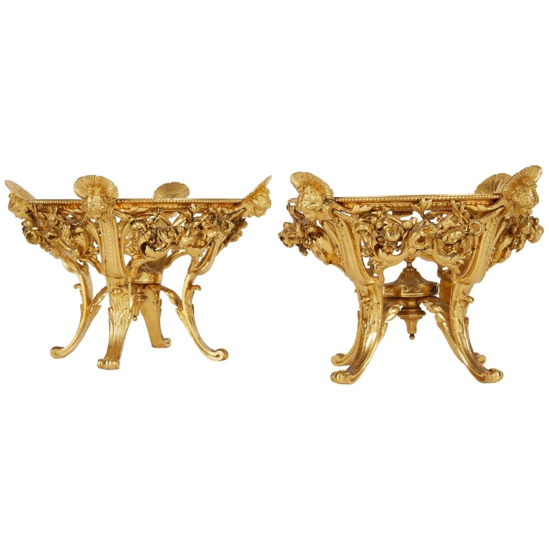 "A Pair of ""Barbedienne"" Gilt Bronze Ormolu Centerpieces"